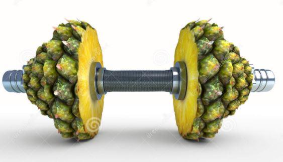 ananas vetverbrander gewicht