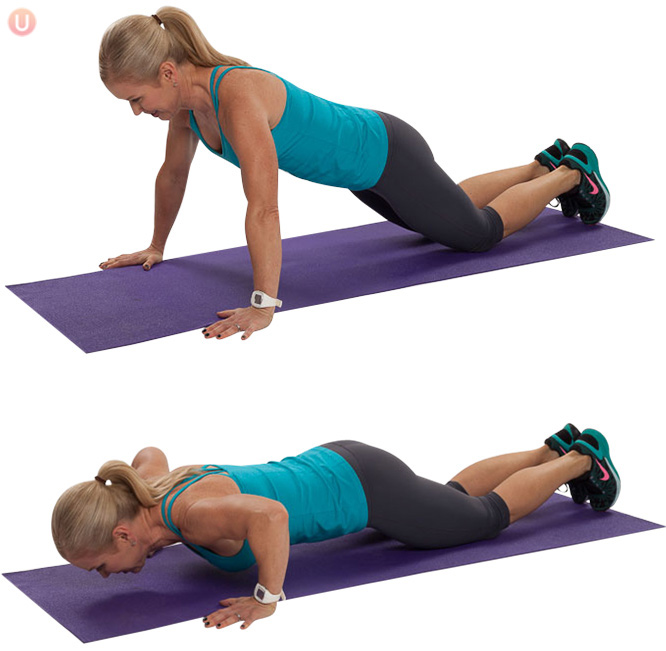 afvallen met sporten push ups