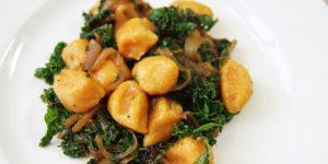 gnocchi van zoete aardappel.